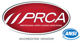 PRCA ANSI Professional Ropes Course Association.